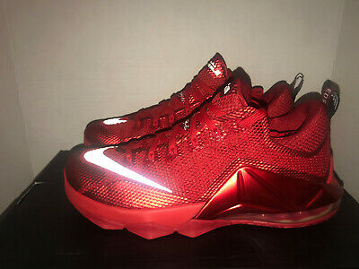 reputable site 55b58 39bfa Nike LeBron XII Low Red October QS Men s Size 11 DS