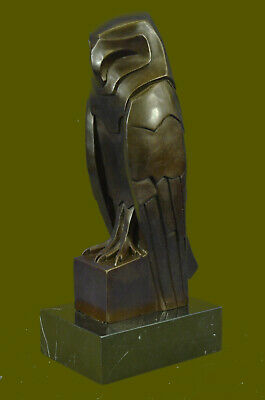 Handcrafted Animal Bird Owl by Dali Museum Quality Artwork Bronze Statue Figure