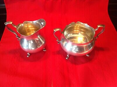Poole 100 Sterling Silver Sugar Bowl and Creamer 16.6 ounces