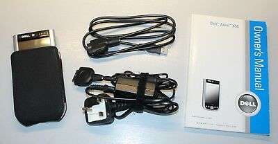 Dell Axim X50 PDA With Case, Cables, Memory, Active Sync and Owner's Manual