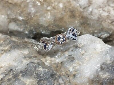 Welsh Clogau Silver & Rose Gold Love Spoons Ring £10 off! SIZE P