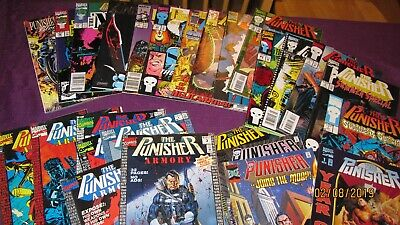 Lot of 26 MARVEL Punisher Armory 1 2 3 4 6 7 9 Microchip 1 Summer Special 1 2 3