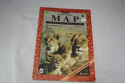 1997 KRUGER NATIONAL PARK  Visitors Map South AFRICA Free Shipping