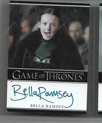 Game of Thrones Autograph Bella Ramsey  as Lady Mormont Framed