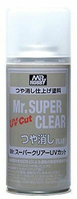 MR HOBBY MR SUPER CLEAR 523 Flat UV Cut Spray 170ml Model Kit Bandai FREE SHIP