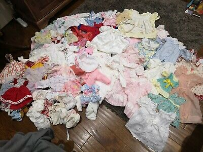 Very large lot of vintage baby & dolls clothes