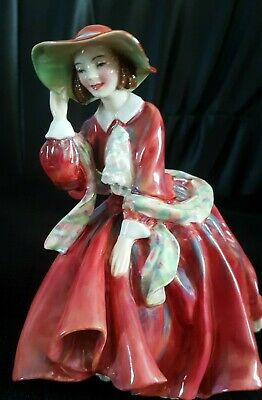 Very Rare Early Royal Doulton Top O The Hill HN1834 Hand Painted Version