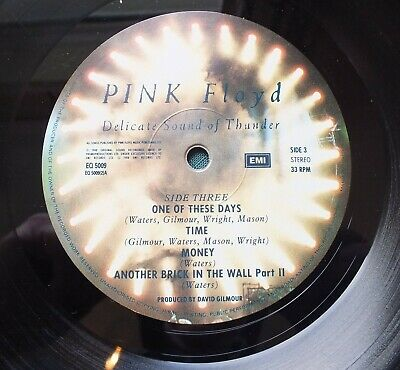 PinK FLoyD Delicate SOUND of THUNDER  1st Press EQ 5009 EMI Records 1988 Ex Con