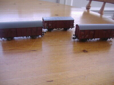 3 Ho Gauge Roco Covered Wagons.