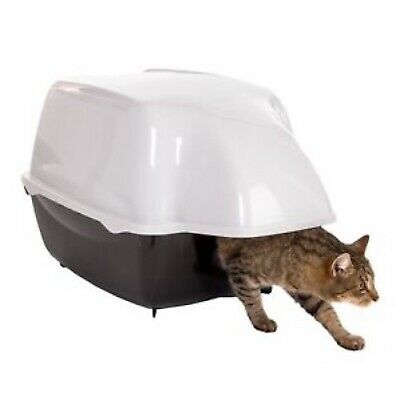 Covered Litter Tray Outdoor Cat Toilet Waterproof Hooded XL Deep Box Larger Cats