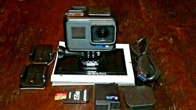 GoPro HERO6 Black Waterproof 4K Sports Action Camera 12MP Wide Angle Hero 6 USED