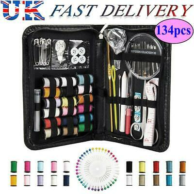 Sewing Kit 134 Pcs, Portable For Professional Travel Set Thread Needle In Case