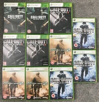 Bundle of Xbox 360 Call of Duty empty games cases - NO discs - Lot 10