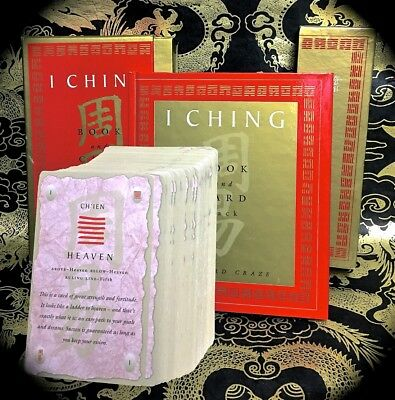 I Ching Book & Card Pack ~ 1St Print 2000 Boxed Set ~ Chinese Tarot-Like Occult