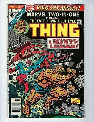 Marvel Two In One Annual # 1 (Thing & Liberty Legion, 1976), Vg/fn