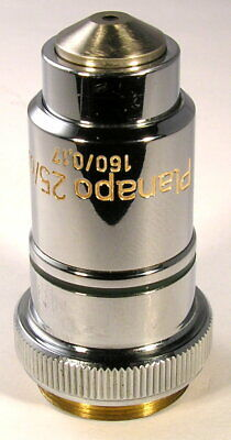 Zeiss Planapo 25X 0.65, 160/0.17 Microscope Objective, Good Working Condition!
