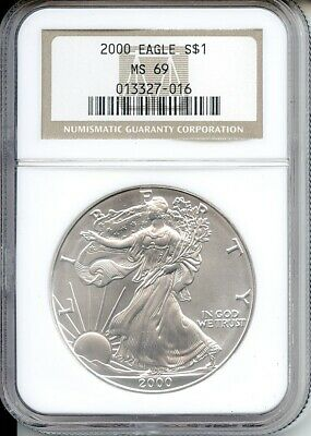 2000 $1 Silver Eagle Ngc Ms 69