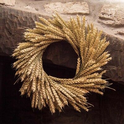 Natural Dried Wheat Wreath