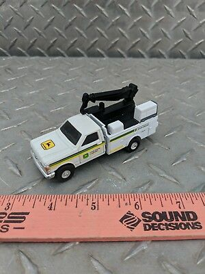 1/64 CUSTOM farm toy 1989 Ford f350 john Deere dealer service pickup truck crane