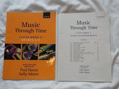 Music Through Time Flute Book 3 - Grades 3-4 - Oxford, in excellent condition