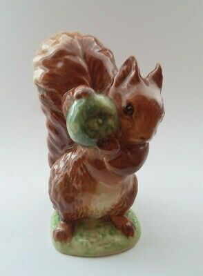 "Beswick Beatrix Potter "" SQUIRREL NUTKIN "" BP2a GOLD OVAL"