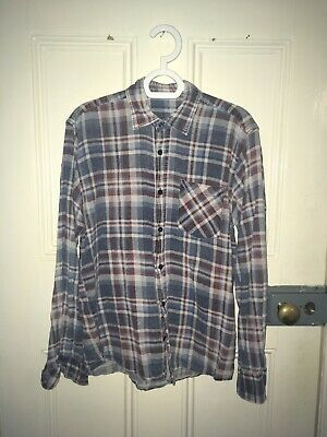 MENS VINTAGE CHECK SHIRT - SMALL Urban Renewal Outfitters Plaid Flannel
