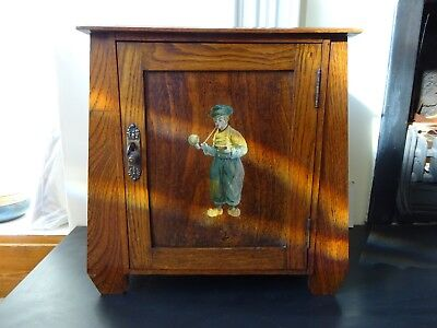 Arts and Crafts, Oak, Pipe Smoking Cabinet, sold at Liberty's ?
