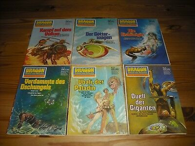 TOP ZUSTAND !!! *** DRAGON *** 6 FANTASY ROMANHEFTE !!!  Nr. 27,28,30,41,43,45.