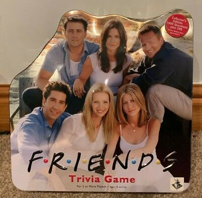 VINTAGE 2002 FRIENDS Trivia Board Game In Collectable Metal Tin CONTENTS  SEALED