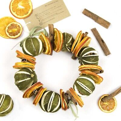 Round Orange, Cinnamon and Whole Lime Wreath