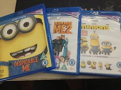 Despicable Me 1 2  Minions Blu Ray Movie Collection Region Free Includes Digital