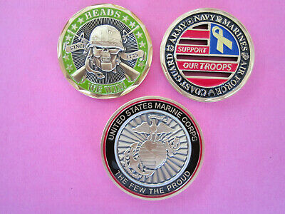(3) UNITED STATES MARINE CORPS ((SNIPER))CHALLENGE COINS-new------d16-1