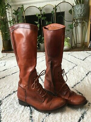 ef54a948137 FRYE WOMEN'S MELISSA Tall Lace Up Riding Boot - Brown 9
