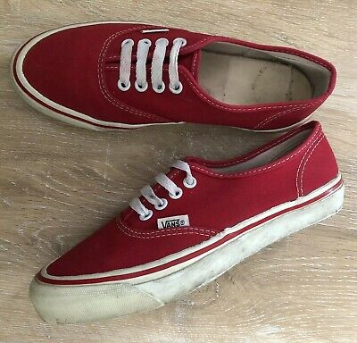 1dc5b355ee VINTAGE VANS MADE In USA Van Doren 1990 s Men Size 6 Womens 7.5 Red ...