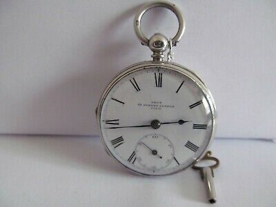 1863 fusee pocket watch by Dent solid silver good condition and working
