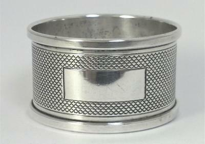Vintage hallmarked Sterling Silver Napkin Ring (not inscribed) – 1952