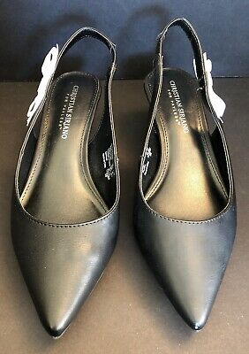 2ffcb728dc146 CHRISTIAN SIRIANO FOR Payless - Womens Shoes -Black With White Bow 7 1/2 W