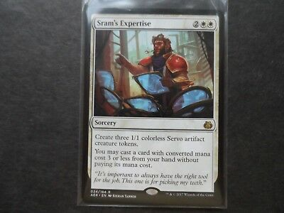 Collectible Card Games MTG Individual Cards SRAM'S EXPERTISE x4 magic the gathering Aether Revolt Rare MTG 4x NM