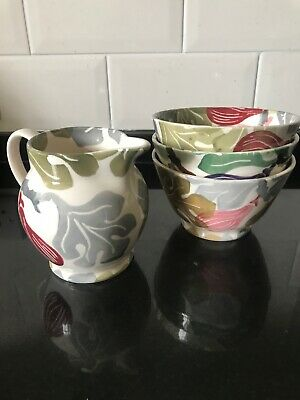 Emma Bridgewater Figs Collectors Club bowls and jug set