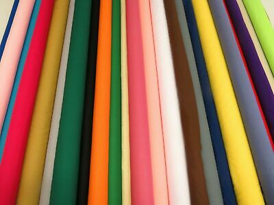 Plain Solid MATERIAL POLYCOTTON FABRIC SOLD BY PER METRE 44''WIDE