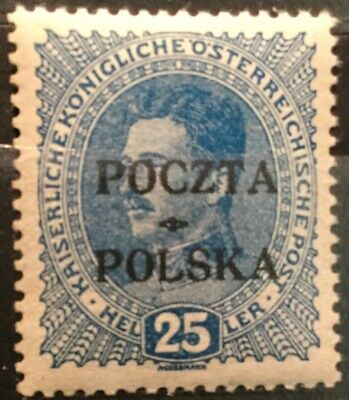 "Poland - 1919 ""Krakow"" Issue MNH, Signed"