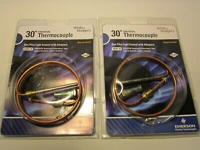"""Lot Of 2 WHITE-RODGERS Standard Coaxial Replacement 30"""" Thermocouplers 18 - 30mV"""