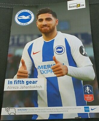 BRIGHTON & HOVE ALBION v DERBY COUNTY 16th FEB 2019 FAC 5th Rd~MINT & UNREAD F/P