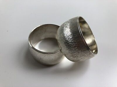 Set of x8 Stokes Silverplated Napkin / Serviette Rings