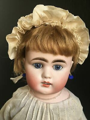 "Antique French DEP Kuhnlenz Bebe early pressed Bisque Doll 16.5"" made 1885"