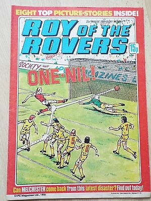 Roy of the Rovers comics 1980s 6 issues