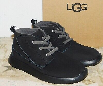 New Toddler Boys Size 11 Black Ugg Canoe Chukka Boots Shoes Water Resistant