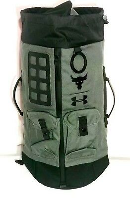 ec65d7d67087 UA X Under Armour Project The Rock DJ 60 Green Military Duffel Bag Backpack  NWT