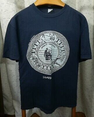 Vintage ITHACA GREECE t-shirt LARGE Greek Mythology Ulysses Illiad