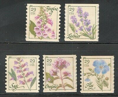 4513-17 (4517A) Herbs Coil Set Of 5 Mint/nh Free Shipping (A-258)